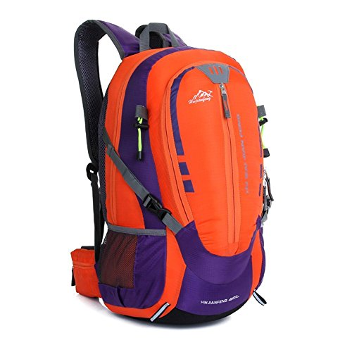 Sincere® sacs de mode Fashion Backpack / Zipper Sacs à dos / Rue / Multifonction / Grand sac de capacité / alpinisme / sports de plein air sac / ordinateur sac à dos-Orange 40L