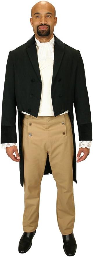 Steampunk Clothing, Fashion, Costumes Historical Emporium Mens Velvet Trimmed Sovereign Regency Tailcoat  AT vintagedancer.com