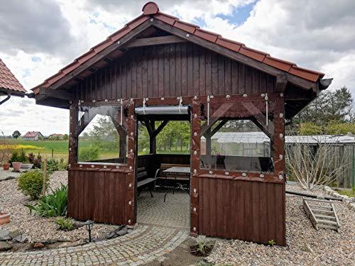 Cubierta de lona y PVC para terrazas y patios, protección contra el viento, protección contra la intemperie, pérgola, para el jardín 650 g/m², 1 m²: Amazon.es: Bricolaje y herramientas