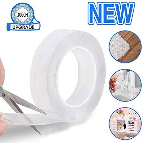Reutilizable Nano Tape, TBONEEY Nano Cinta Adhesiva de Doble Cara Lavable Sin Rastros, Almohadillas de…