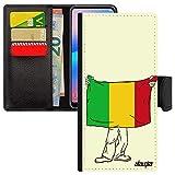 utaupia Coque Redmi Note 9 Pro Simili Cuir Portefeuille Drapeau Mali malien Football Flip Case Coupe...