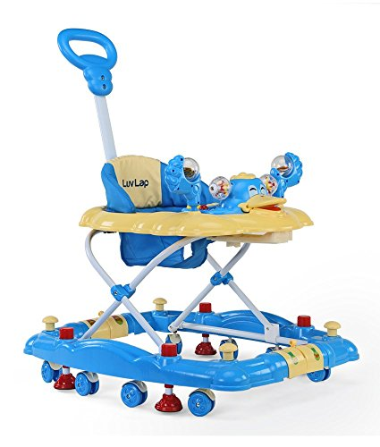 LuvLap Comfy Baby Walker with Rocker (Blue)