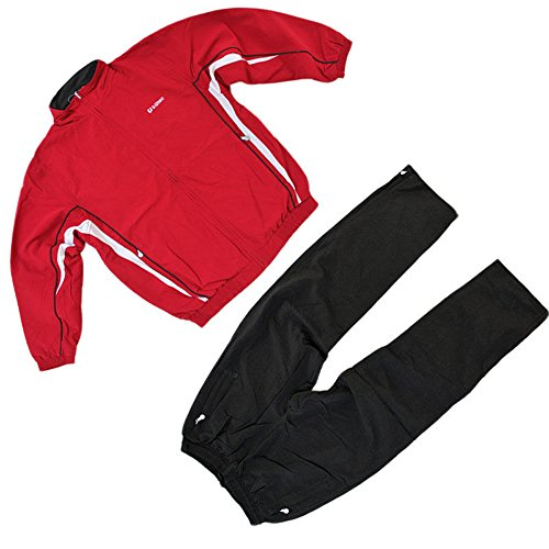 Killtec sportpak, trainingspak, vrijetijdspak Firat, Uni, MICROFASER maat 152 kinderen (unisex) rood-zwart