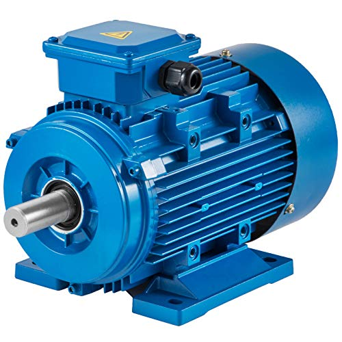 VEVOR Motore Base Rigido 3 Fase B3 Montaggio 400V Tensione 2 Poli Potenza 2200W Motore Asincrono Motore Elettrico 2.2 kW B3 con Trifase e Velocità Nominale 3000PRM