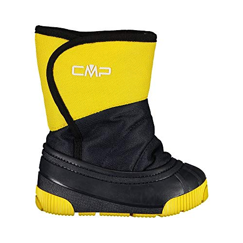 C.P.M. Baby LATU Snow Boots, Scarpone da Neve Bimbo, Yellow/Blue, 26 EU