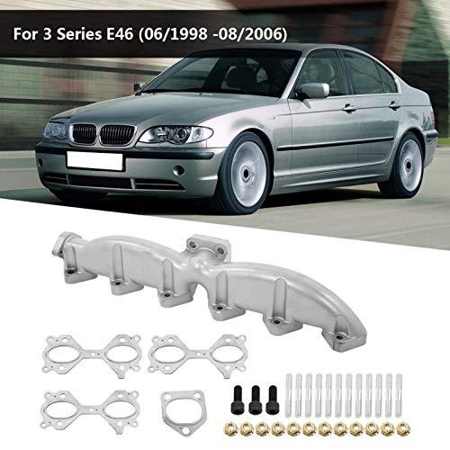ALBBMY Auspuffkrümmer 1 Satz Auto Abgaskrümmer gepasst Fit for BMW E46 E39 E60 E61 E38 E65 E83 E53 3 5 7 X3 X5 Edelstahl