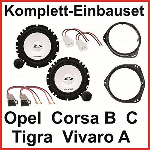 Lautsprecher Set Corsa B C Tigra Vivaro A Alpine SXE-1750S 2 Wege System vorne