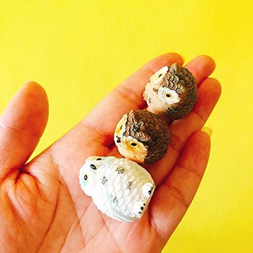 Tini Figurines & Miniatures - 10pcs/Owls/Miniatures/Lovely Animals/Fairy Garden GNOME/Moss Terrarium Decor/Crafts/Bonsai/Bottle Garden/Table Decor/Figurine - by 1 PCs