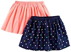 Pull on skirts Built in shorts Covered elastic waistband for comfort Trusted Carter's quality, every day low prices, and hassle-free tag less packaging-exclusively for Amazon member