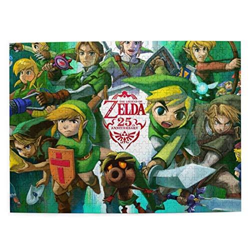 The Leg end Zelda Rompecabezas para adultos y niños rompecabezas 500 piezas pequeño juego de rompecabezas juguetes regalo