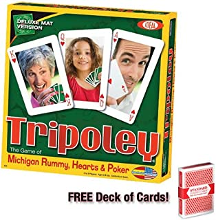 Brybelly Tripoley Deluxe Mat Edition Card Game w/Free Deck of Standard Playing Cards