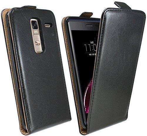 ENERGMiX Klapptasche Schutztasche kompatibel mit LG Zero (H650E) in Schwarz Tasche Hülle