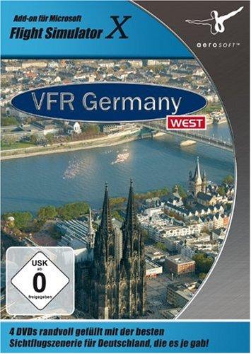 Flight Simulator X - VFR Germany 1: West (DVD-ROM)