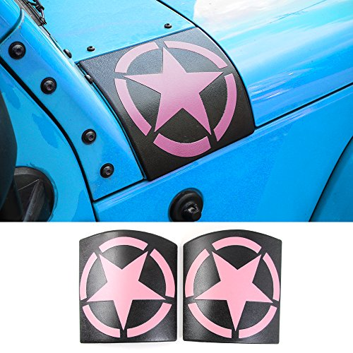 RT-TCZ Cowl Body Armor Cover Sport Exterior Accessories Parts for Jeep Wrangler Rubicon Sahara JK & Unlimited 2007-2017 Pink