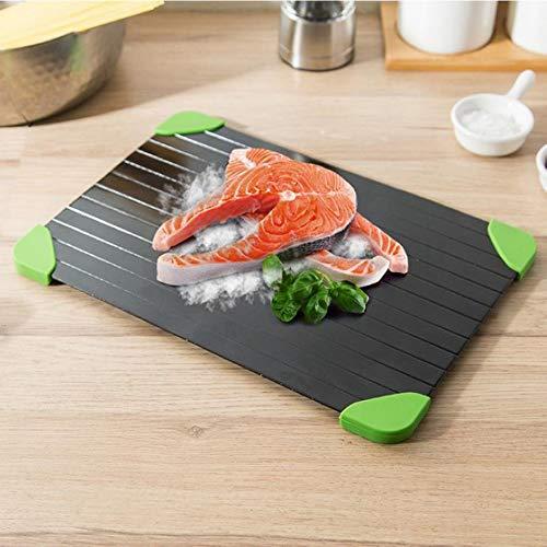 Aluminium Ontdooien Board Snelle Ontdooien Lade Zonder Elektriciteit Chemicals Magnetron Ontdooien Bevroren Voedsel Ontdooien Vlees tot 8X Sneller 35 x 19.7X 0.3cm stijlnaam 35*19.7*0.3cm Zwart
