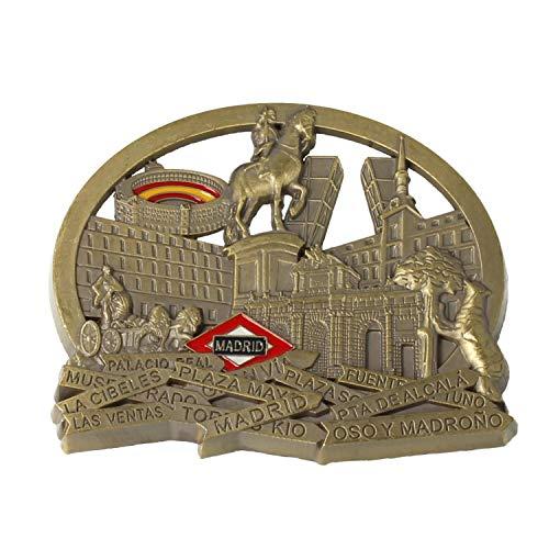 MovilCom® - iman Nevera| Figuras magneticas | imanes Nevera Personalizados de Madrid | diseño Exclusivo Recuerdo de España (Mod.001)