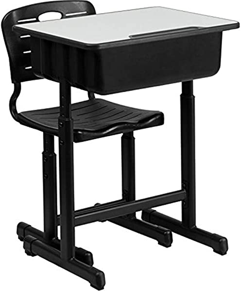MuLuo 2pcs Children Learning Desk And Chair Set Height Adjustable Correcting Sitting Posture Students Writing Table
