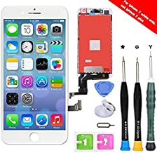 Premium Screen Replacement Compatible with iPhone 7 4.7 inch Full Assembly -LCD Touch Digitizer Display Glass Assembly with Tools, Fit Compatible with iPhone 7 (White) (Renewed)