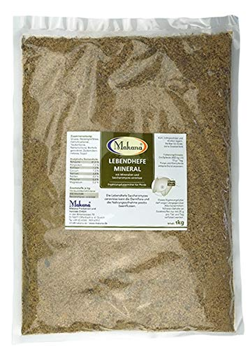 Makana Lebendhefe, 20x10x10 KBE, Saccharomyces cerevisae, 1000 g Beutel (1 x 1 kg)