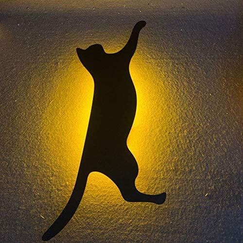 HHYSPA LáMpara De ProyeccióN De PatróN 3D, LáMpara De Pared De ProyeccióN Led para Gatos LáMpara De Control De Sonido De Marquesina En La Pared, Control De Sonido Sensor De Silueta Luz Nocturna #4