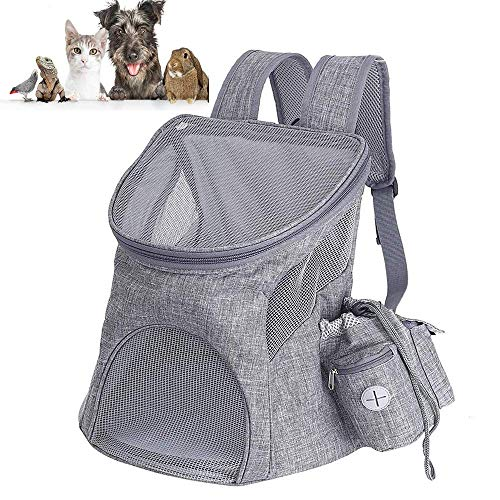 Pet Carrier Backpack, Foldable Pet Carrier Breathable Cat Backpack Carrier Travel Bag with Mesh Window for Cat Puppy Rabbit Small Dogs Travel Camping Hiking-45x36x31cm (Suitable for 3-7kg pet)