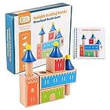 Tomaibaby 1 Satz Holzbausteine ??Für Kinder Spielset für Kleinkinder Baby Zusammengebaute Bausteine ??Lernspielzeug