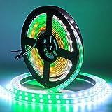 CHINLY 5m WS2812B Luz de tira de LED individualmente direccionable 5050 RGB SMD 300 píxeles Color de sueño Impermeable IP67...
