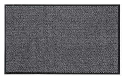 andiamo Fußmatte Easy Türmatte Sauberlaufmatte für Innen- und überdachte Außenbereiche mit rutschhemmender Rückseite 80 x 120 cm hellgrau