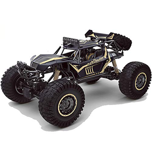 HSCW 1: 8 Coche de control remoto de coche de escalada de aleación de cuerpo de 2,4 Ghz, 4WD, neumático grande Bigfoot, vehículo todoterreno, vehículo todoterreno, adecuado para niños y adultos, antic