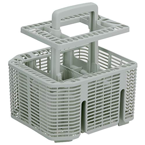 Cage spares2go Panier /à couverts pour lave-vaisselle Miele Blanc, 237/mm x 137/mm x 122/mm