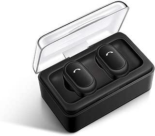 Bluetooth Earphones & Headphones,pgmrw23h TWS Bluetooth Earbuds True Wireless Stereo Deep Bass Sports Earphone Headset - Black