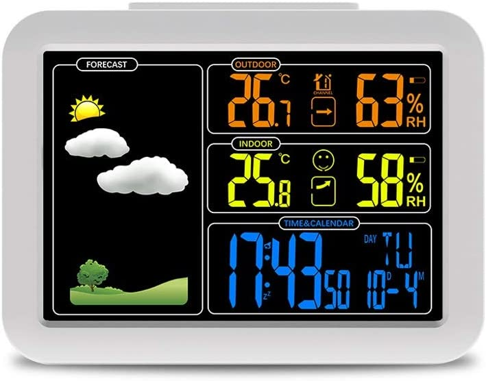 Don't miss the campaign Alarm Clock with Weather Colour Special sale item Station Wireless