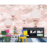Wallpaper Mural Cartoon Hot Air Balloon Children Room Background Wallpaper Home Decoration Tv Background 3D Wallpaper 450X300Cm