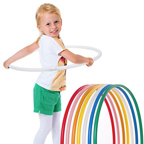 Hoopomania® Kinder Hula Hoop Reifen, Durchmesser 60cm in Weiss