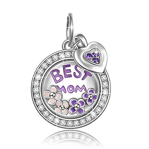 NINAQUEEN Charm Encaja con Pandora Amor Madre Mensaje Colgante Regalos Mujer Originales Plata de Ley 925 Abalorios para Niñas Madre Hija Esposa de Cumpleaños