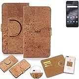 K-S-Trade Schutz Hülle Für Gigaset ME I Pro Handyhülle Kork Handy Tasche Korkhülle Schutzhülle Handytasche Wallet Hülle Walletcase Flip Cover Smartphone Handyhülle