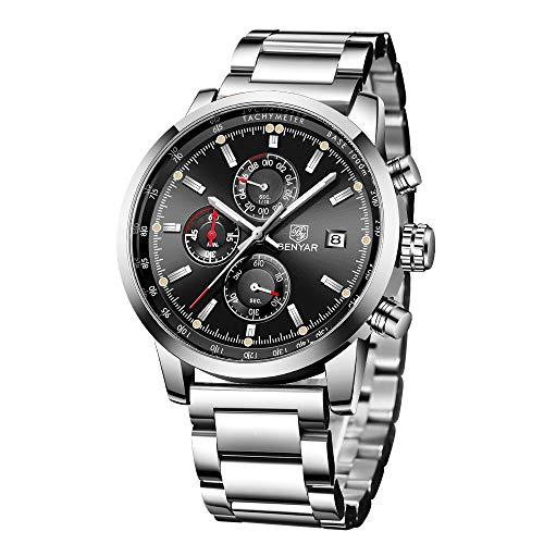 Orologio da uomo cronografo al quarzo analogico impermeabile orologio da...