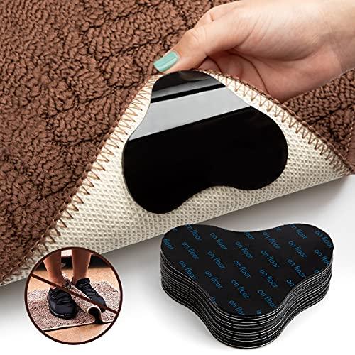 カーペット すべり止めシート 滑り止めマット 滑り止め シール テープ 吸着 マット 強力 ズレ防止 洗濯可能 繰り返し利用可能(12枚入り、花形)