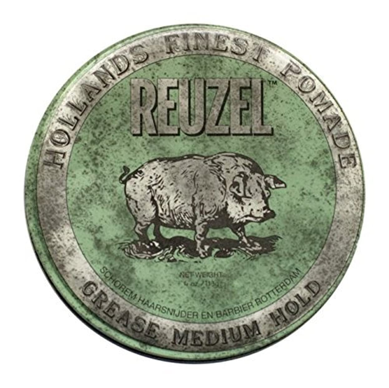 アライメント拍手する夢中Reuzel Green Grease Medium Hold Hair Styling Pomade Piglet 1.3oz (35g) Wax/Gel by Reuzel