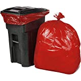 ORILEY Biodegradable Garbage Bag Eco-Friendly 50 Micron Lab Tested Bio Hazard Waste Bag for Hospital, Office, Home & Kitchen (Red, 21' x 25', 15 Pcs)