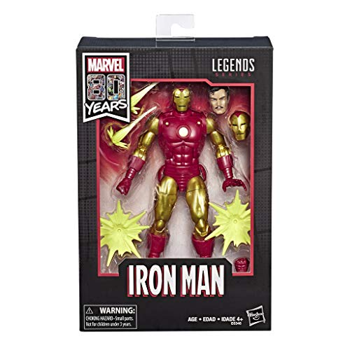 Hasbro Marvel Legends Series- Classic Iron Man Marvel 80esimo Anniversario, Multicolore, E6346E48