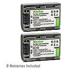 Kastar Battery (2-Pack) for Sony DVD HandyCam DCR-DVD105 DCR-DVD202E DCR-DVD203 DCR-DVD203E DCR-DVD205 DCR-DVD305 DCR-DVD403 DCR-DVD405 DCR-DVD408 DCR-DVD505 DCR-DVD910 DCR-DVD92