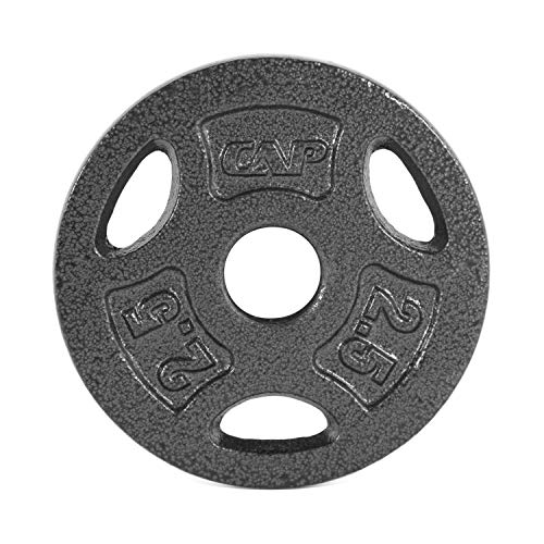 CAP Barbell Standard 1-Inch Grip Weight Plates, Single, Black, Various Sizes
