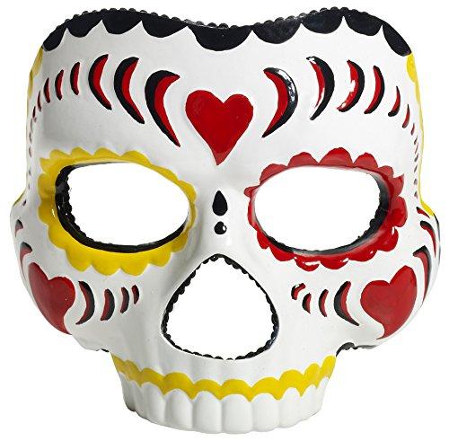 Generique - Mscara Da de los Muertos Blanco Halloween