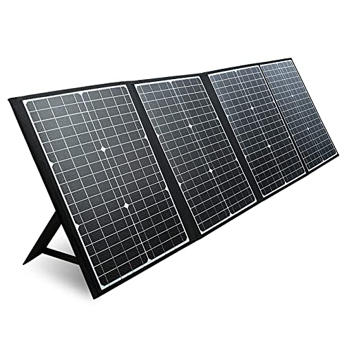 PAXCESS 120W Portable Solar Panel with USB QC 3.0, Typc C Output, Off Grid Emergency Power Supply for RV Camping Travel Outdoor Backup (Renewed)