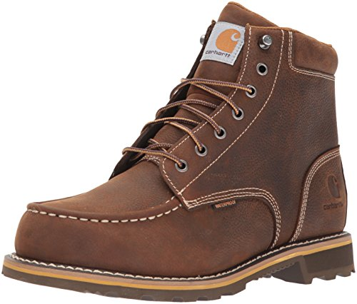 Carhartt Men's 6' Lug Bottom Moc Soft Toe CMW6197 Industrial Boot, Dark Bison Oil Tanned, 11.5 M US