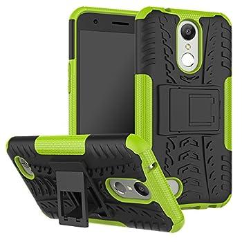 Folice for LG K10 2017 Case,LG K20 V Case,LG K20 Plus Case,LG V5 Case [Shockproof] Hybrid Rugged Soft Rubber Hard PC Tough Dual Layer Protective Case Cover  Green