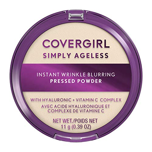 Covergirl Simply Ageless Instant Wrinkle Blurring Pressed Powder, Translucent, 0.39 Oz.
