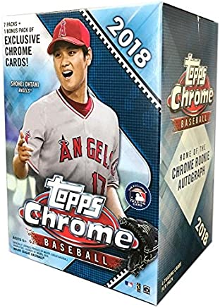 Topps 2018 Chrome Baseball Mass Value Box 8 Packsbox At Amazons