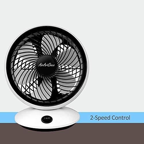 avec T/él/écommande le bureau et la chambre 3 Vitesses 0.5h ~ 7.5h Minuterie AirArtDeco 88 Oscillant Id/éal pour la maison Ventilateur sur Pied 16 pouces 5 pales de ventilateur Noir 40 cm